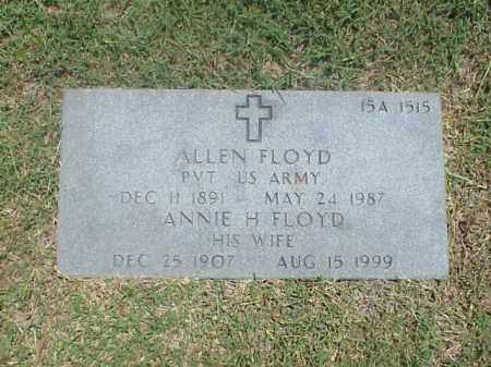 FLOYD (VETERAN WWI), ALLEN - Pulaski County, Arkansas | ALLEN FLOYD (VETERAN WWI) - Arkansas Gravestone Photos