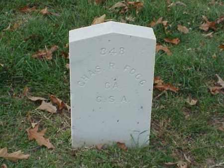 FOGG (VETERAN CSA), CHARLES R - Pulaski County, Arkansas | CHARLES R FOGG (VETERAN CSA) - Arkansas Gravestone Photos