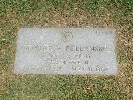 FOLLANSBEE (VETERAN WWII), GEORGE W - Pulaski County, Arkansas | GEORGE W FOLLANSBEE (VETERAN WWII) - Arkansas Gravestone Photos