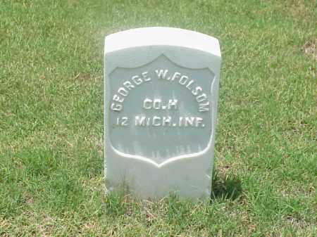 FOLSOM (VETERAN UNION), GEORGE  W - Pulaski County, Arkansas | GEORGE  W FOLSOM (VETERAN UNION) - Arkansas Gravestone Photos