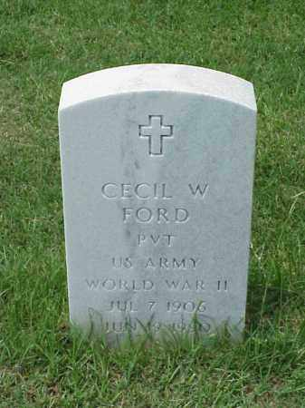 FORD (VETERAN WWII), CECIL W - Pulaski County, Arkansas | CECIL W FORD (VETERAN WWII) - Arkansas Gravestone Photos