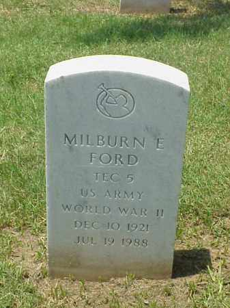FORD (VETERAN WWII), MILBURN E - Pulaski County, Arkansas | MILBURN E FORD (VETERAN WWII) - Arkansas Gravestone Photos