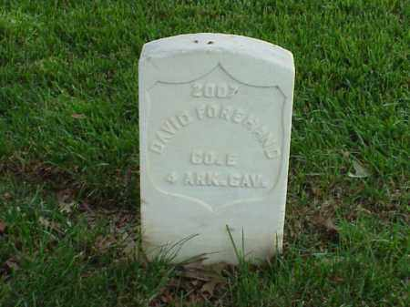 FOREHAND (VETERAN UNION), DAVID - Pulaski County, Arkansas | DAVID FOREHAND (VETERAN UNION) - Arkansas Gravestone Photos