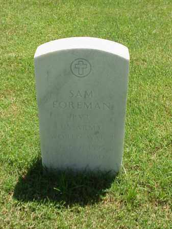 FOREMAN (VETERAN WWI), SAM - Pulaski County, Arkansas | SAM FOREMAN (VETERAN WWI) - Arkansas Gravestone Photos
