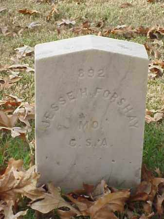 FORSHAY (VETERAN CSA), JESSE H - Pulaski County, Arkansas | JESSE H FORSHAY (VETERAN CSA) - Arkansas Gravestone Photos