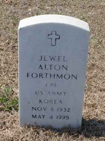 FORTHMON (VETERAN KOR), JEWEL ALTON - Pulaski County, Arkansas | JEWEL ALTON FORTHMON (VETERAN KOR) - Arkansas Gravestone Photos