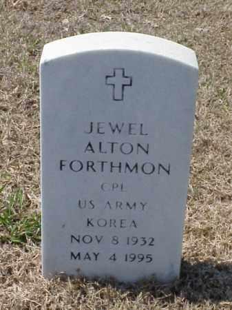 FORTHMON (VETERAN KOR), JEWEL ALTON - Pulaski County, Arkansas | JEWEL ALTON FORTHMON (VETERAN KOR) - Arkansas Gravestone Photos