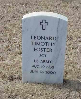 FOSTER  (VETERAN), LEONARD TIMOTHY - Pulaski County, Arkansas | LEONARD TIMOTHY FOSTER  (VETERAN) - Arkansas Gravestone Photos