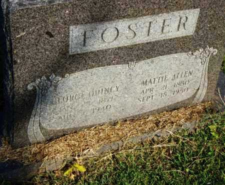 ALLEN FOSTER, MATTIE - Pulaski County, Arkansas | MATTIE ALLEN FOSTER - Arkansas Gravestone Photos