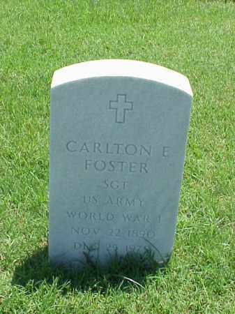 FOSTER (VETERAN WWI), CARLTON E - Pulaski County, Arkansas | CARLTON E FOSTER (VETERAN WWI) - Arkansas Gravestone Photos