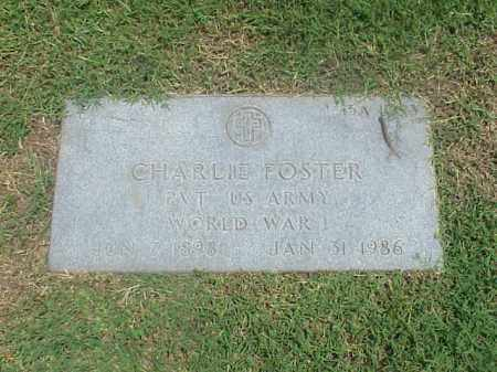 FOSTER (VETERAN WWI), CHARLIE - Pulaski County, Arkansas | CHARLIE FOSTER (VETERAN WWI) - Arkansas Gravestone Photos