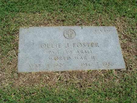 FOSTER (VETERAN WWII), OLLIE J - Pulaski County, Arkansas | OLLIE J FOSTER (VETERAN WWII) - Arkansas Gravestone Photos