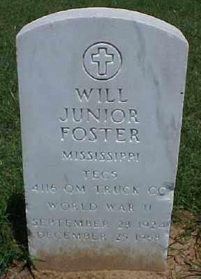 FOSTER (VETERAN WWII), WILL JUNIOR - Pulaski County, Arkansas | WILL JUNIOR FOSTER (VETERAN WWII) - Arkansas Gravestone Photos