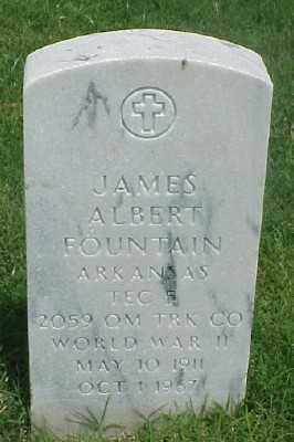FOUNTAIN (VETERAN WWII), JAMES ALBERT - Pulaski County, Arkansas | JAMES ALBERT FOUNTAIN (VETERAN WWII) - Arkansas Gravestone Photos