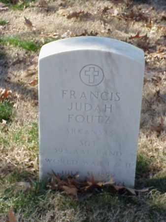 FOUTZ (VETERAN 2 WARS), FRANCIS JUDAH - Pulaski County, Arkansas | FRANCIS JUDAH FOUTZ (VETERAN 2 WARS) - Arkansas Gravestone Photos