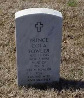 FOWLER, PRINCE COLA - Pulaski County, Arkansas | PRINCE COLA FOWLER - Arkansas Gravestone Photos