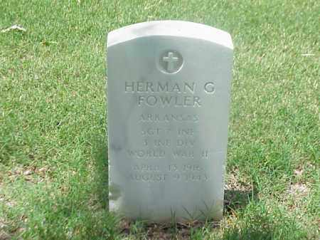 FOWLER (VETERAN WWII), HERMAN G - Pulaski County, Arkansas | HERMAN G FOWLER (VETERAN WWII) - Arkansas Gravestone Photos
