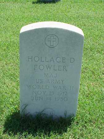 FOWLER (VETERAN WWII), HOLLACE D - Pulaski County, Arkansas | HOLLACE D FOWLER (VETERAN WWII) - Arkansas Gravestone Photos