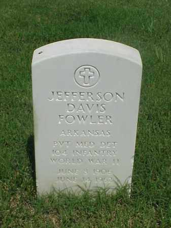 FOWLER (VETERAN WWII), JEFFERSON DAVIS - Pulaski County, Arkansas | JEFFERSON DAVIS FOWLER (VETERAN WWII) - Arkansas Gravestone Photos