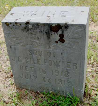 FOWLER, WAINE - Pulaski County, Arkansas | WAINE FOWLER - Arkansas Gravestone Photos