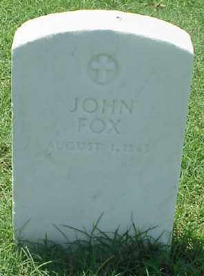 FOX (VETERAN UNION), JOHN - Pulaski County, Arkansas | JOHN FOX (VETERAN UNION) - Arkansas Gravestone Photos