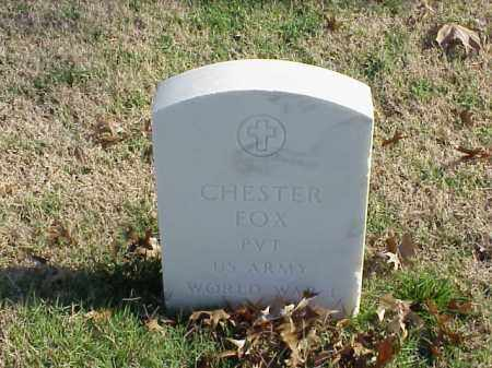 FOX (VETERAN WWI), CHESTER - Pulaski County, Arkansas | CHESTER FOX (VETERAN WWI) - Arkansas Gravestone Photos
