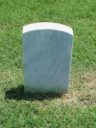 FOX (VETERAN WWII), HALLIE S - Pulaski County, Arkansas | HALLIE S FOX (VETERAN WWII) - Arkansas Gravestone Photos