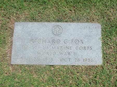 FOX (VETERAN WWII), RICHARD C - Pulaski County, Arkansas | RICHARD C FOX (VETERAN WWII) - Arkansas Gravestone Photos