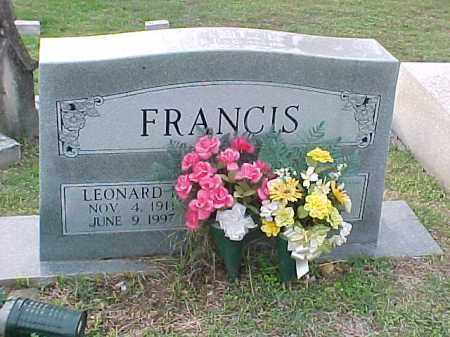 FRANCES, LEONARD - Pulaski County, Arkansas | LEONARD FRANCES - Arkansas Gravestone Photos
