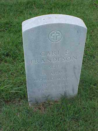 FRANDESON (VETERAN WWI), CARL E - Pulaski County, Arkansas | CARL E FRANDESON (VETERAN WWI) - Arkansas Gravestone Photos