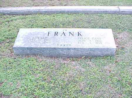 FRANK, EDWARD - Pulaski County, Arkansas | EDWARD FRANK - Arkansas Gravestone Photos