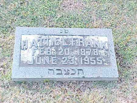 FRANK, HATTIE L - Pulaski County, Arkansas | HATTIE L FRANK - Arkansas Gravestone Photos