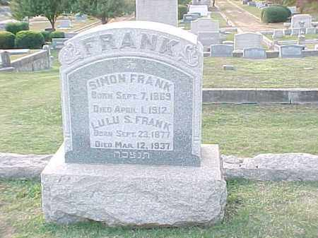FRANK, SIMON - Pulaski County, Arkansas | SIMON FRANK - Arkansas Gravestone Photos