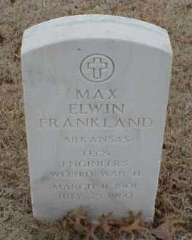 FRANKLAND  (VETERAN WWII), MAX ELWIN - Pulaski County, Arkansas | MAX ELWIN FRANKLAND  (VETERAN WWII) - Arkansas Gravestone Photos