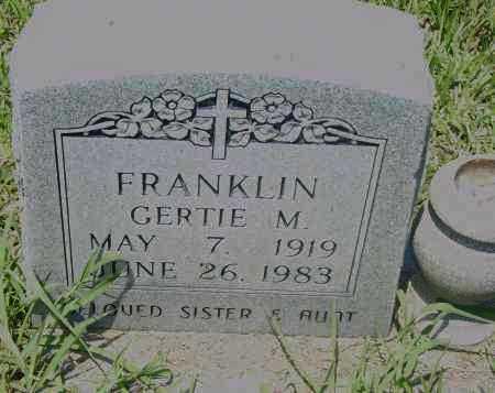 FRANKLIN, GERTIE M. - Pulaski County, Arkansas | GERTIE M. FRANKLIN - Arkansas Gravestone Photos