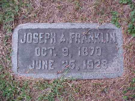FRANKLIN, JOSEPH A - Pulaski County, Arkansas | JOSEPH A FRANKLIN - Arkansas Gravestone Photos