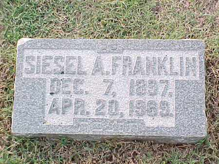 FRANKLIN, SIESEL A - Pulaski County, Arkansas | SIESEL A FRANKLIN - Arkansas Gravestone Photos
