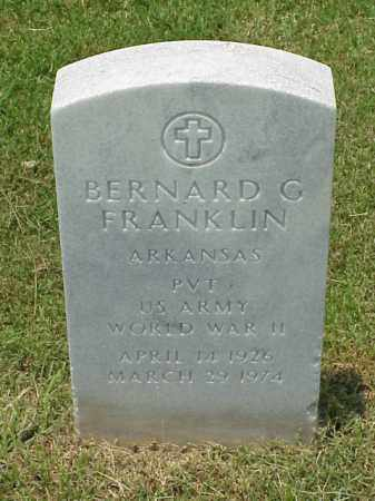 FRANKLIN (VETERAN WWII), BERNARD G - Pulaski County, Arkansas | BERNARD G FRANKLIN (VETERAN WWII) - Arkansas Gravestone Photos