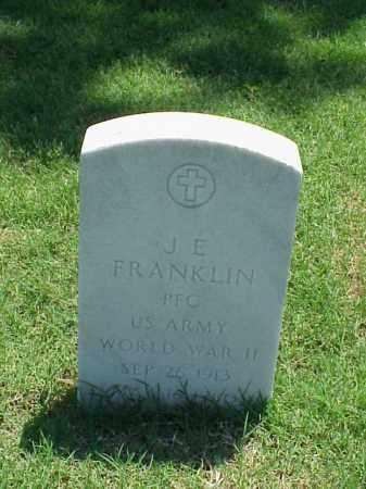 FRANKLIN (VETERAN WWII), J E - Pulaski County, Arkansas | J E FRANKLIN (VETERAN WWII) - Arkansas Gravestone Photos