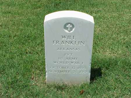 FRANKLIN (VETERAN WWII), WILL - Pulaski County, Arkansas | WILL FRANKLIN (VETERAN WWII) - Arkansas Gravestone Photos