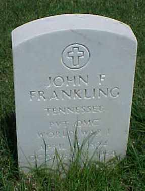 FRANKLING (VETERAN WWI), JOHN F - Pulaski County, Arkansas | JOHN F FRANKLING (VETERAN WWI) - Arkansas Gravestone Photos