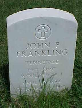 FRANKLING (VETERAN WWI), JOHN F - Pulaski County, Arkansas | JOHN F FRANKLING (VETERAN WWI) - Arkansas Gravestone Photos