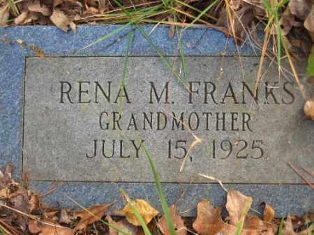 FRANKS, RENA M - Pulaski County, Arkansas | RENA M FRANKS - Arkansas Gravestone Photos