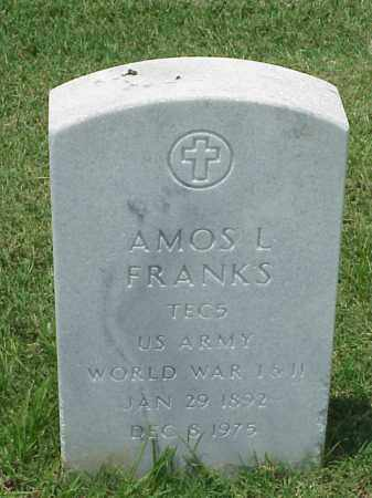 FRANKS (VETERAN 2 WARS), AMOS L - Pulaski County, Arkansas | AMOS L FRANKS (VETERAN 2 WARS) - Arkansas Gravestone Photos