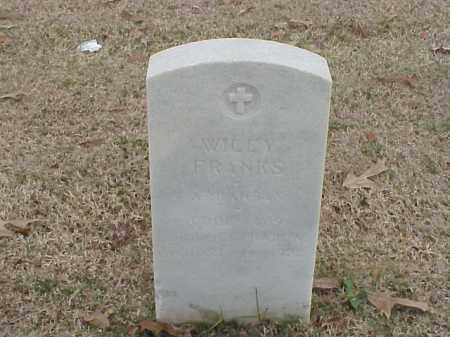 FRANKS (VETERAN WWI), WILEY - Pulaski County, Arkansas | WILEY FRANKS (VETERAN WWI) - Arkansas Gravestone Photos