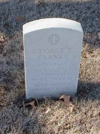 FRANKS (VETERAN WWII), GEORGE E - Pulaski County, Arkansas | GEORGE E FRANKS (VETERAN WWII) - Arkansas Gravestone Photos