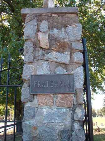*FRATERNAL CEMETERY GATE,  - Pulaski County, Arkansas |  *FRATERNAL CEMETERY GATE - Arkansas Gravestone Photos