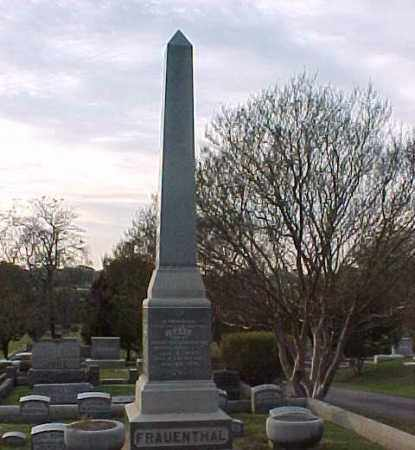FRAUENTHAL FOUR SIDED STONE,  - Pulaski County, Arkansas |  FRAUENTHAL FOUR SIDED STONE - Arkansas Gravestone Photos