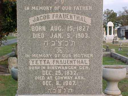 FRAUENTHAL, YETTA - Pulaski County, Arkansas | YETTA FRAUENTHAL - Arkansas Gravestone Photos