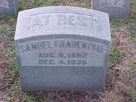 FRAUENTHAL, SAMUEL - Pulaski County, Arkansas | SAMUEL FRAUENTHAL - Arkansas Gravestone Photos